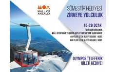 Deepo Outlet ve Mall of Antalya'dan Olimpos Teleferik Bileti Hediye