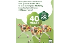 Migros'tan Money Bonus ile Ödemelerde 50 TL Money!