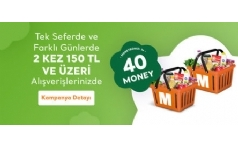 Migros'tan Money Bonus ile Ödemelerde 40 TL Money!
