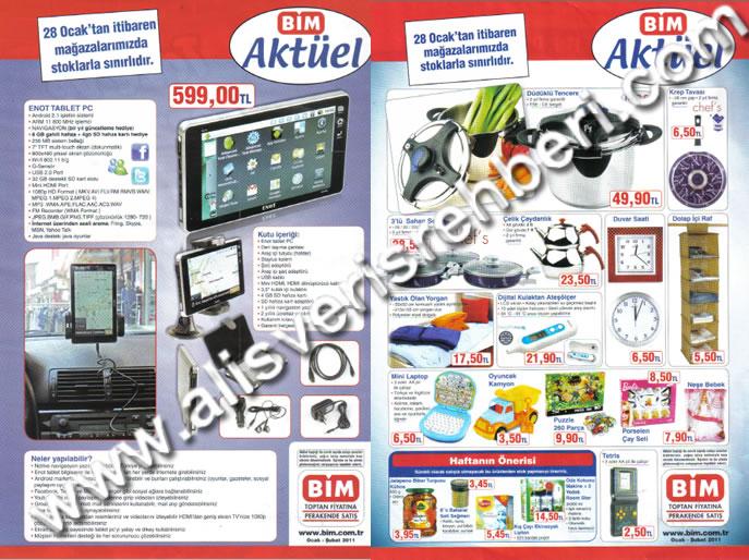 Bim 28 ocak 2011 aktüel ürünler bim market indirimleri