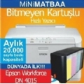 EPSON WorkForce Pro 4015DN + BİTMEYEN KARTUŞ SİSTEMİ ''MİNİ MATBAA''
