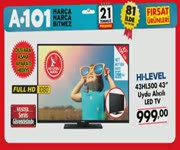 A101 21 Temmuz - HI-LEVEL LED TV