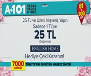 A101 - English Home Hediye Çeki